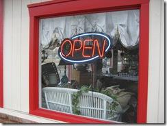 Open Sign at Gerri's Antiques